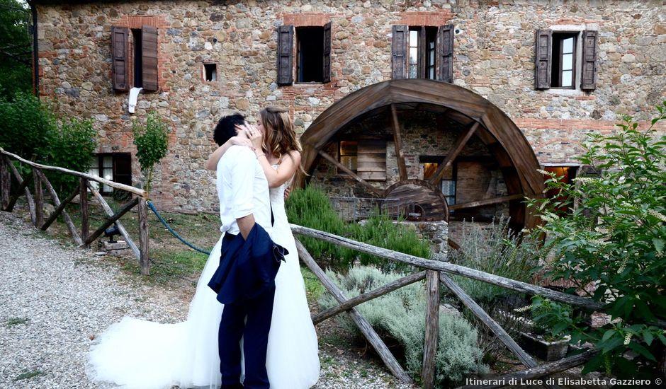 Il matrimonio di Alberto e Maia a Chiusdino, Siena