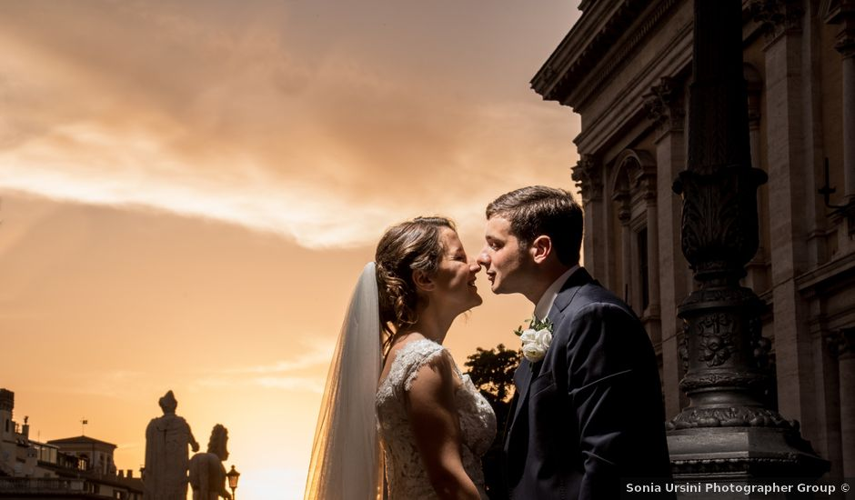 Il matrimonio di Filippo e Giulia a Roma, Roma