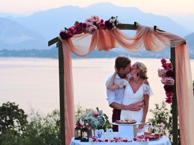 Il matrimonio di Clayton e Lara a Laveno-Mombello, Varese 76