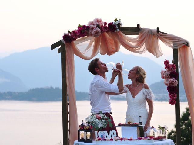 Il matrimonio di Clayton e Lara a Laveno-Mombello, Varese 77