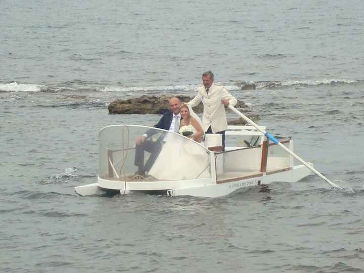 arrivo in barca