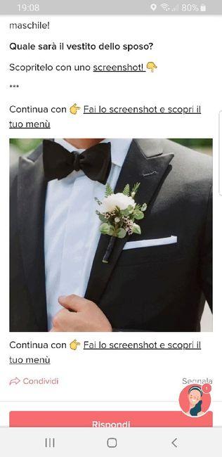 Fai lo screenshot e scopri il vestito dello sposo 22