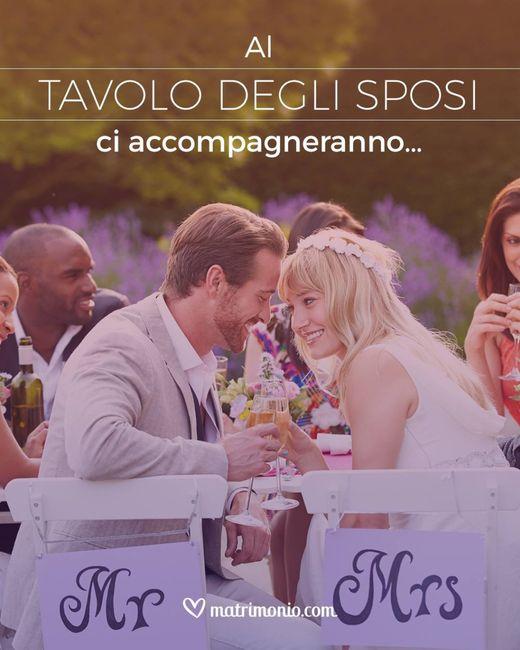 Chi si siederà al tavolo con gli sposi? 1