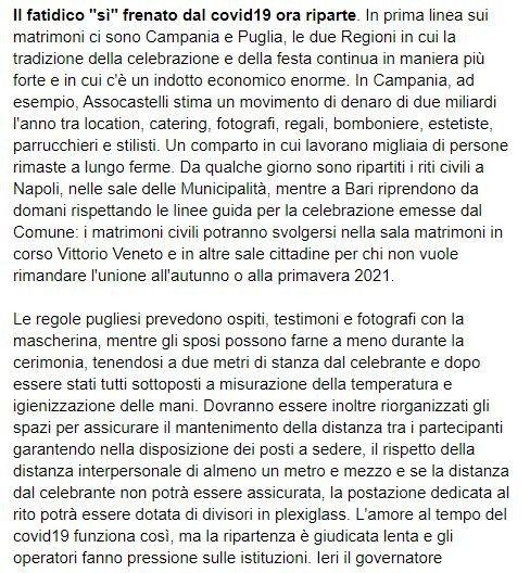 Ottime notizie per Campania e Puglia 2