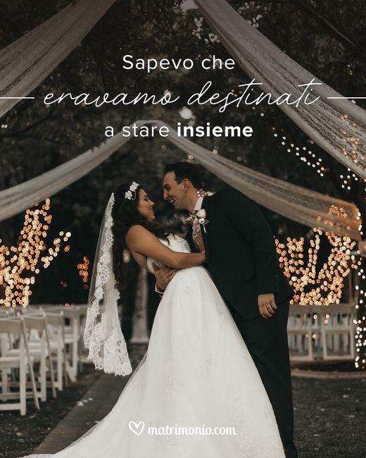 Completa le frasi e raccontaci delle tue nozze 1