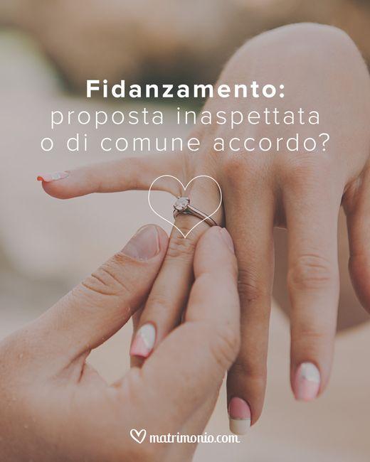 Fidanzamento: proposta inaspettata o di comune accordo? 1
