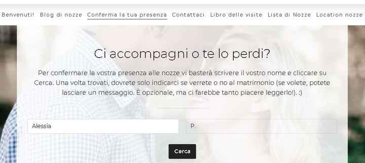 Wedding Site: la conferma invitati - 2