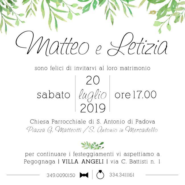 Inviti matrimonio!! 2