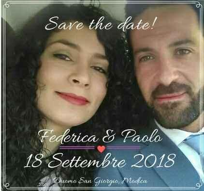 18.09.18 Il mio save the date, oggi un anno esatto! - 1
