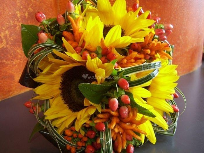 Girasoli Matrimonio Ottobre : Bouquet girasoli arancione foto nozze veneto