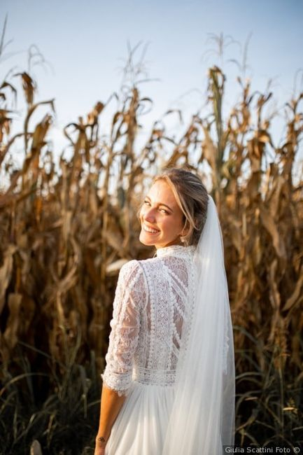 Tendenza colore 2020 - Dettaglio abito da sposa 1