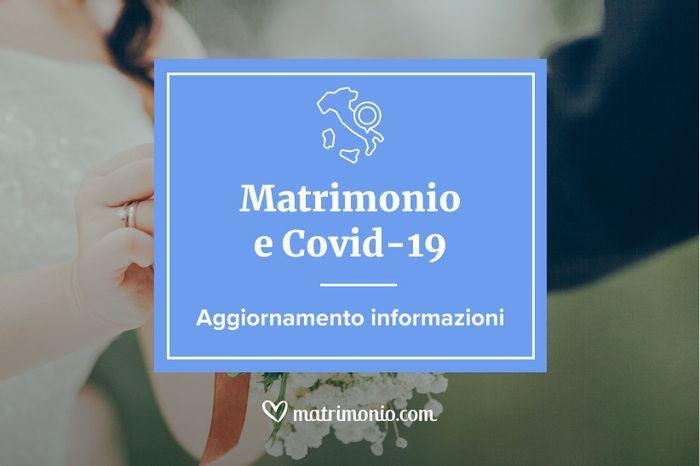 Matrimonio e Covid-19: ecco tutti gli aggiornamenti 1