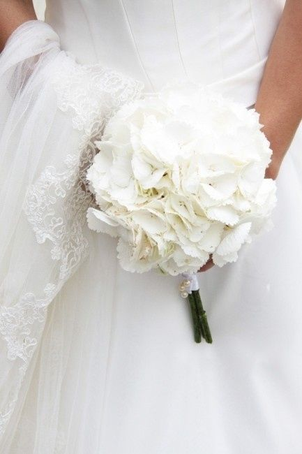 Ortensie Matrimonio Costo : Bouquet ed addobbi con le ortensie bianche foto