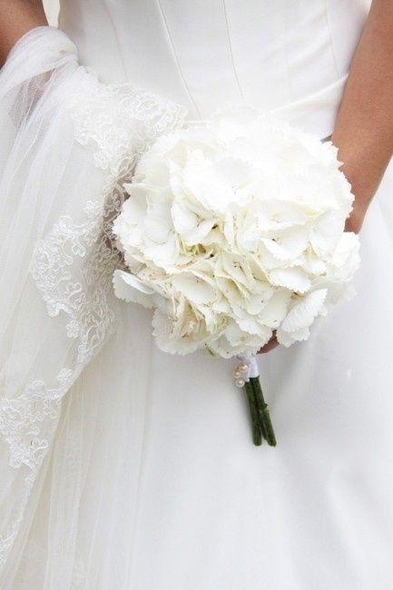 Bouquet ed addobbi con le ortensie bianche foto for Ortensie bianche