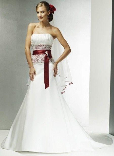 Conosciuto Abito da sposa bianco e rosso - Moda nozze - Forum Matrimonio.com GX69