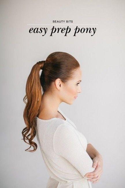 25 peinados de novia con cola de caballo 1