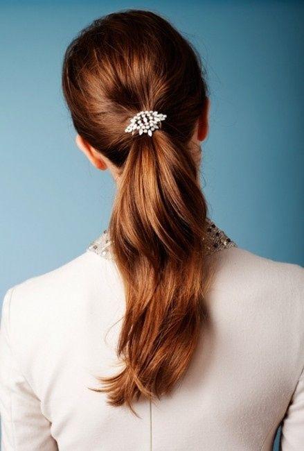 25 peinados de novia con cola de caballo 4