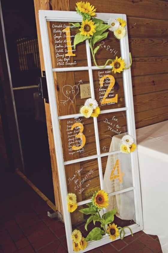 Tagleau di nozze con girasoli n. 2