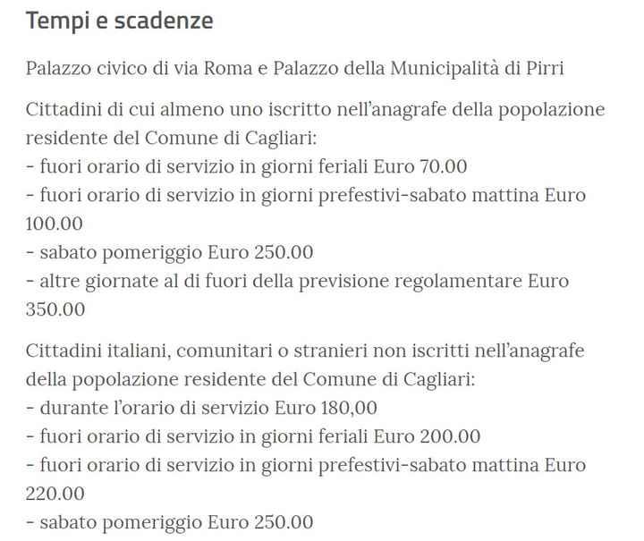 Location cerimonia civile Cagliari 2020/2021 - 1