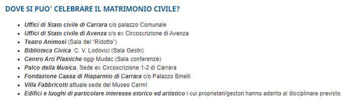 Rito civile Massa Carrara - 1