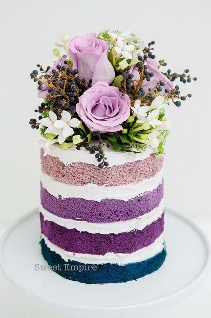 La torta nuziale con un tocco dinverno - Ricevimento di