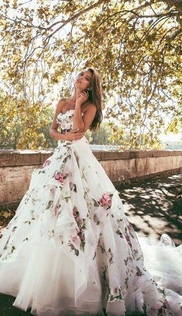 23ecc07eb0c2 Abito da sposa con dettaglio colorato  sì o no  - Pagina 3 - Moda ...