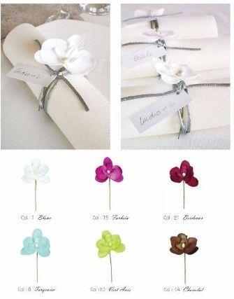segnaposto matrimonio orchidea