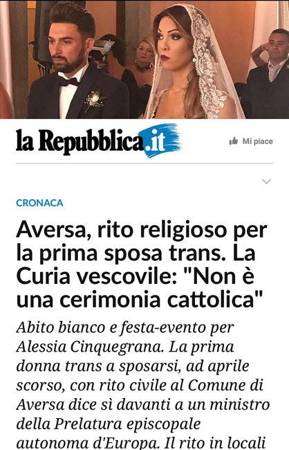 0a6f0c0f5d0c Ecco l abito da sposa di Alessia Cinquegrana la prima sposa trans ...