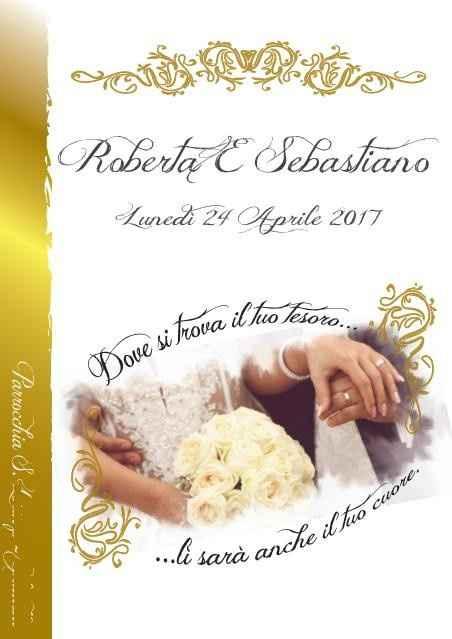 Fronte copertina libretto messa