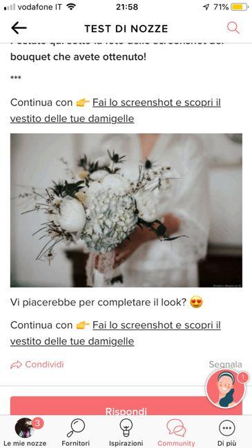 Fai lo screenshot e scopri il tuo bouquet 8