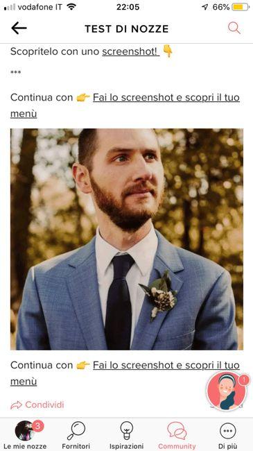 Fai lo screenshot e scopri il vestito dello sposo 9