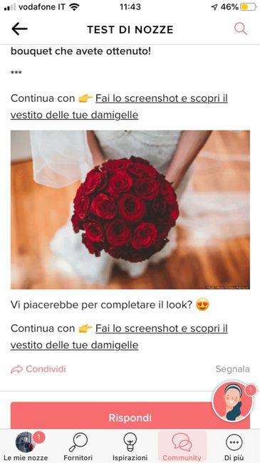 Fai lo screenshot e scopri il tuo bouquet 26