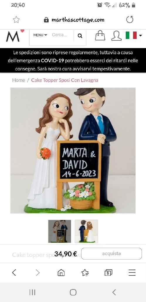 Statuine cake topper - 1