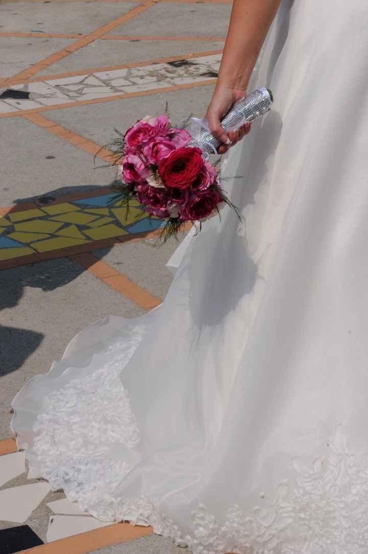 il mio bouquet e dettaglio vestito