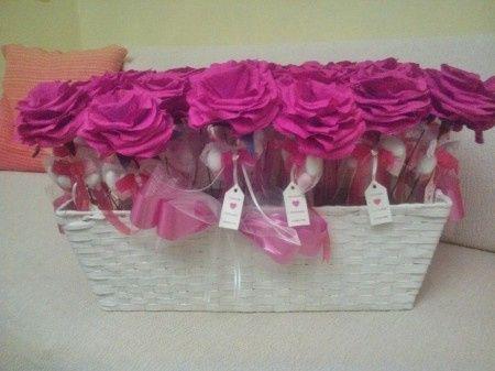 Rose porta confetti