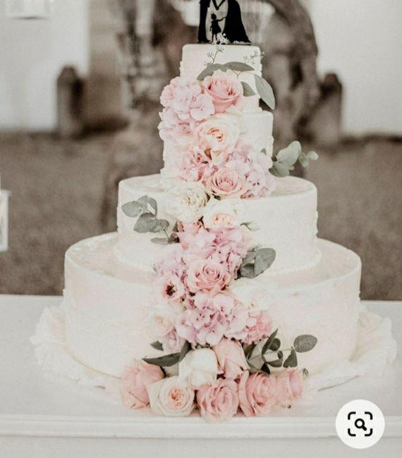 Torta nozze con fiori 9
