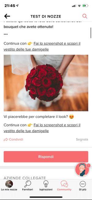 Fai lo screenshot e scopri il tuo bouquet 10