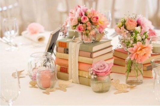 Centrotavola libri e candele organizzazione matrimonio for Centrotavola matrimonio candele