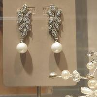 orecchini brillanti e perla