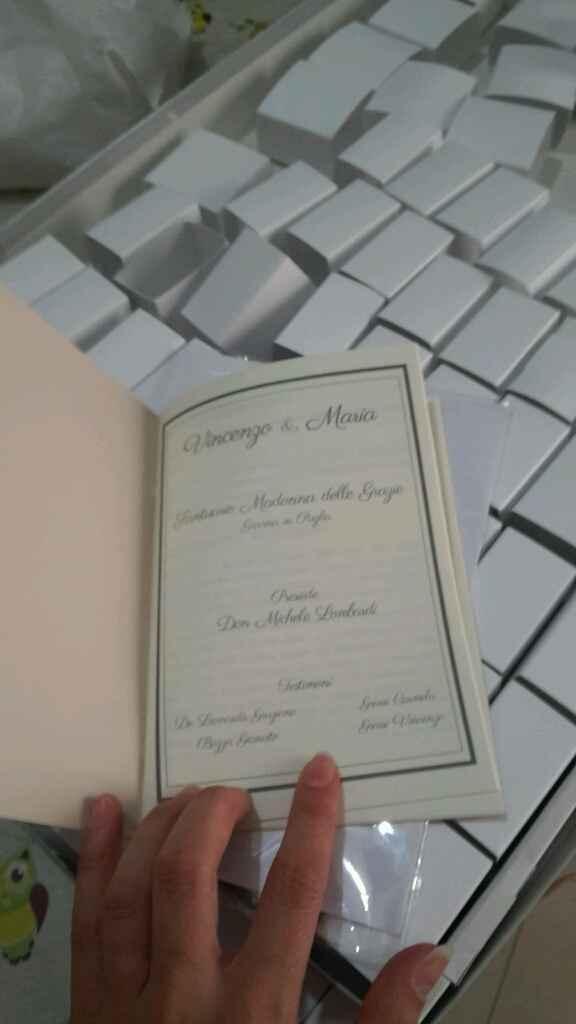 A cinque giorni dal mio matrimonio ecco libretti e segnaposti! - 3