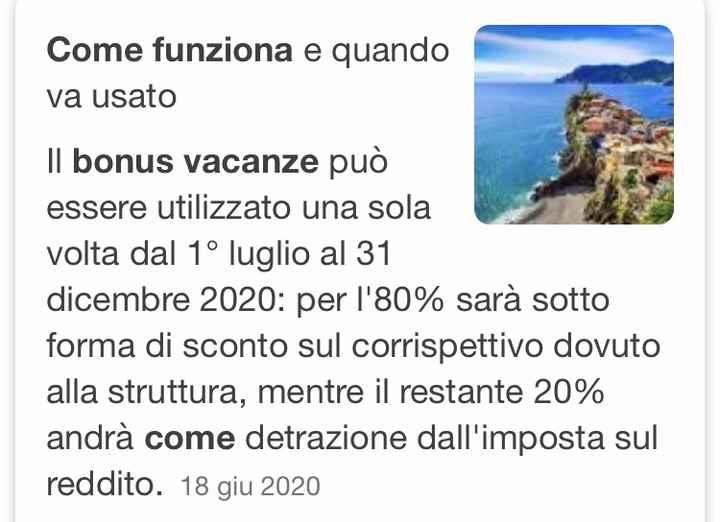 Bonus vacanze - 1