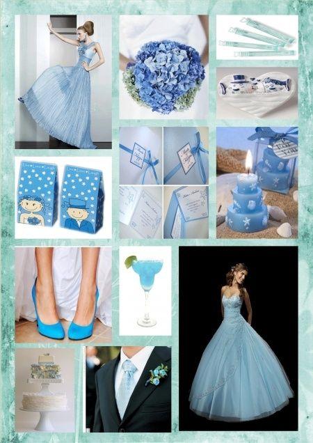 Matrimonio Azzurro Xl : Tema favole in azzurro foto