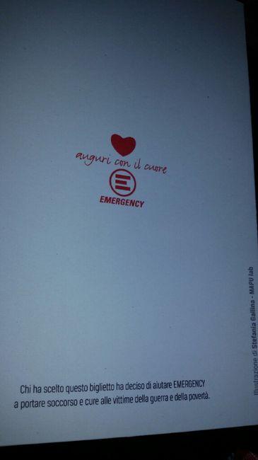 Emergency Partecipazioni Matrimonio.Arrivate Le Partecipazioni Di Emergency Organizzazione