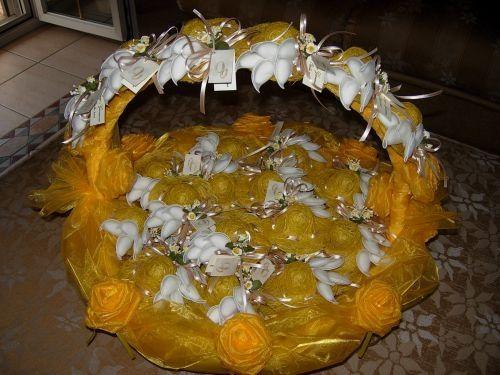 Girasoli e rose arancioni organizzazione matrimonio - Cesti porta bomboniere matrimonio ...