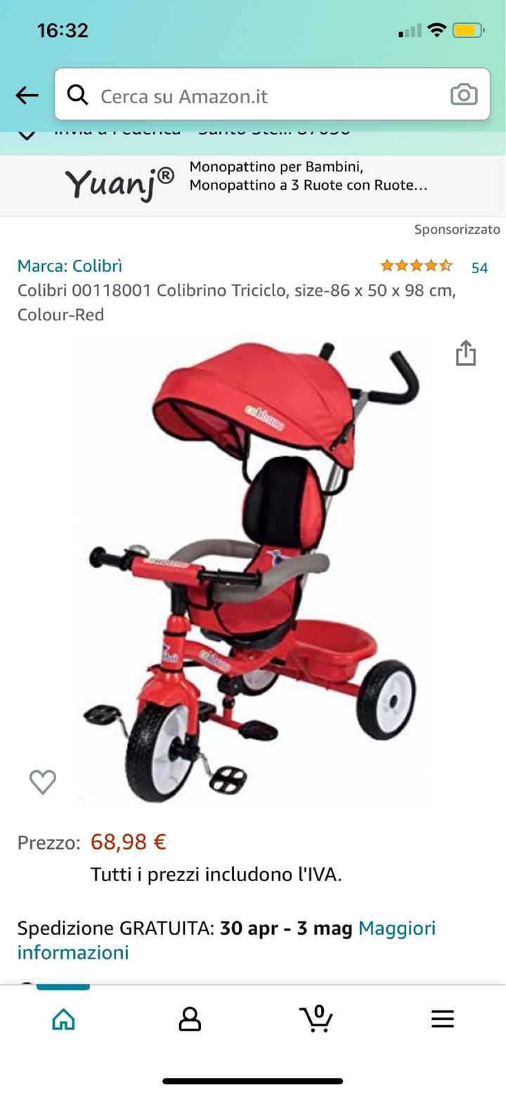 Triciclo passeggino - 1