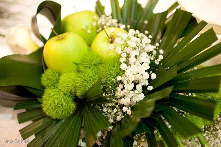 centrotavola verde mela