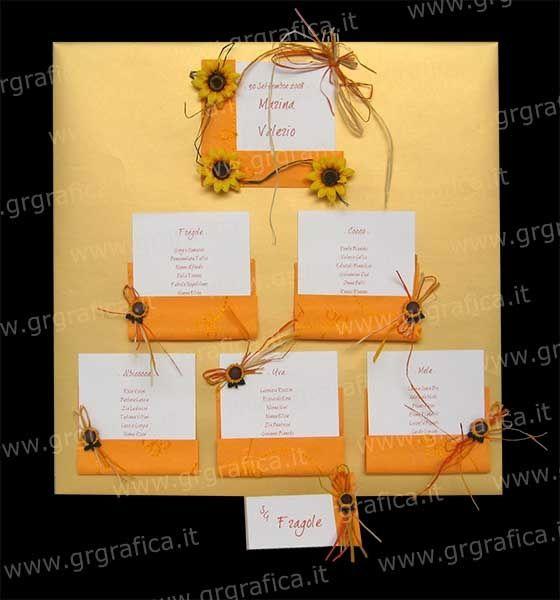 Tableau Matrimonio Girasoli : Idee per tutte tableau pagina organizzazione