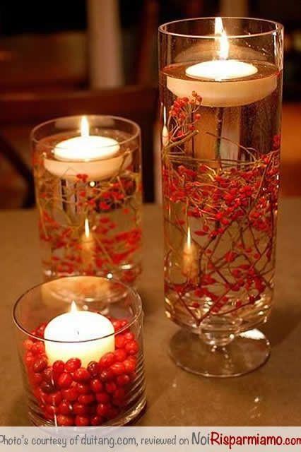 Cosa mettere sui tavoli ricevimento di nozze forum for Composizioni natalizie fai da te