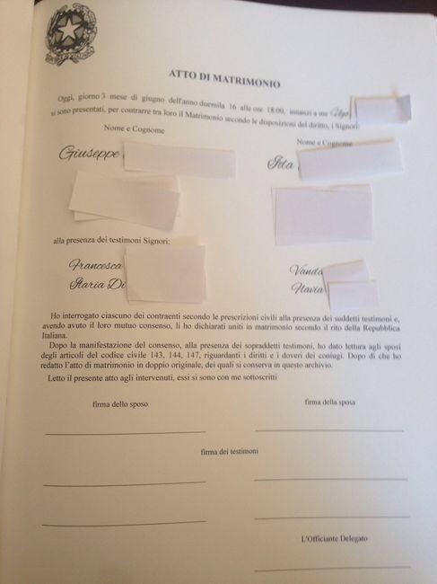 Registro Firme Matrimonio Simbolico : Registro rito figurativo l epilogo cerimonia nuziale
