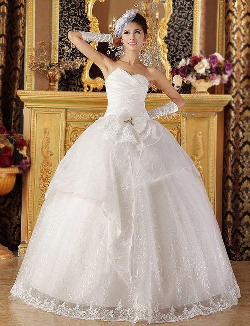 abito da sposa, stile palloncino
